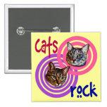 Cat's Rock Button