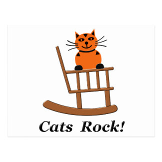 Cats Rock Postcard