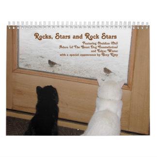 Cats - Rocks, Stars and Rock Stars Calendar