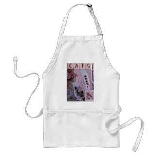 cats rule ACEO apron