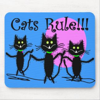 Cats Rule!!!  Black Cat Design...adorable Mouse Pad