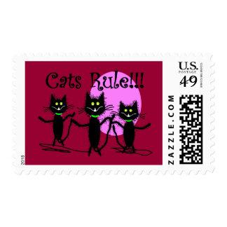 Cats Rule!!!  Black Cat Design...adorable Stamps