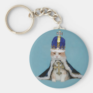 Cats Rule Bubba Basic Round Button Keychain