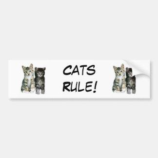 Cats Rule Bumper Sticker Car Bumper Sticker