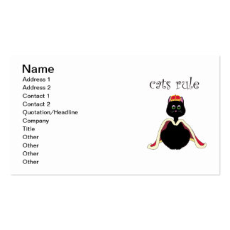 Cats Rule Double-Sided Standard Business Cards (Pack Of 100)