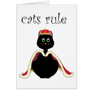 Cats Rule Card