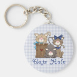 Cats Rule Cat Lover Gifts and Tees Keychain
