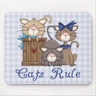 Cats Rule Cat Lover Gifts and Tees Mouse Pad