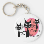 """Cats Rule!!""--Cat Lovers Gifts--Adorable Key Chains"