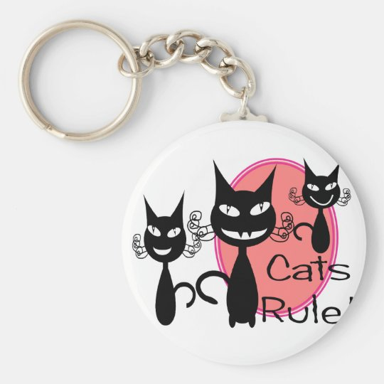 """""""Cats Rule!!""""--Cat Lovers Gifts--Adorable Keychain"""