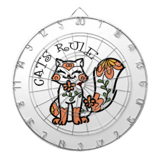 Cats Rule Dartboard With Darts