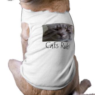 Cats Rule! Doggie Tshirt