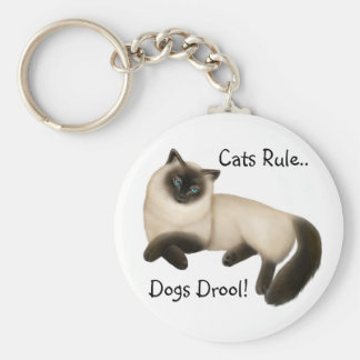 Cats Rule Dogs Drool Keychain