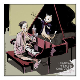Cats Rule Everything Even The Piano Poster