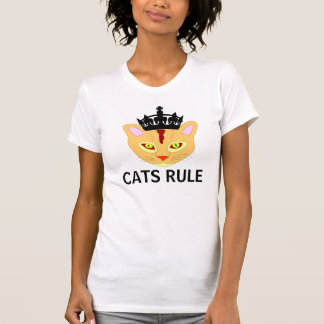 CATS RULE, Funny Cat T-shirts