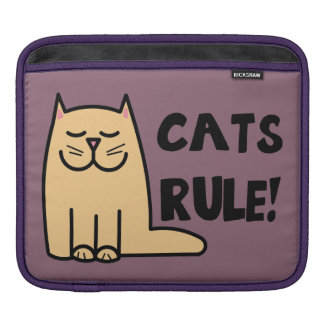 Cats Rule iPad Sleeves