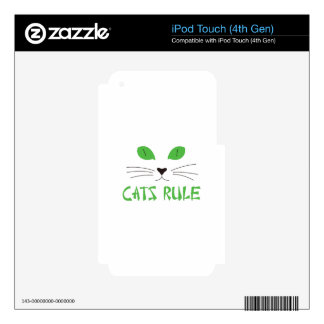 Cats Rule iPod Touch 4G Decal