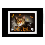 Cats Rule Notecard Stationery Note Card