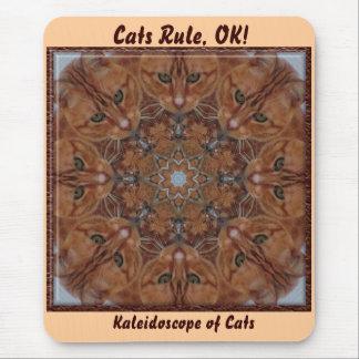 Cats Rule, OK! Kaleidoscope Mousepad Mouse Pad