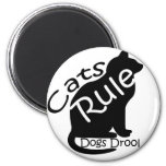 Cats Rule Refrigerator Magnet