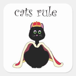 Cats Rule Square Sticker