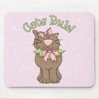 Cats Rule Tees and Gifts Mouse Pad