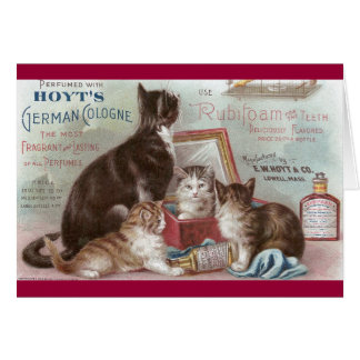 Cats Selling Cologne Victorian Trade Card
