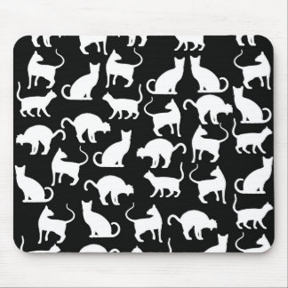 cats silhouette mouse pad