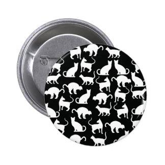 cats silhouette pinback button