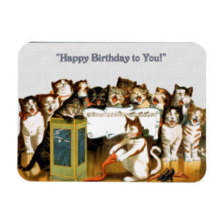 Cats Singing Happy Birthday Magnet