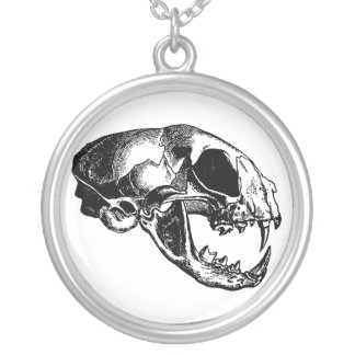 Cat's Skull Silver Plated Necklace
