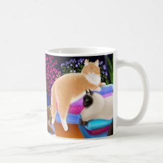Cats Sleeping in Fresh Laundry Mug