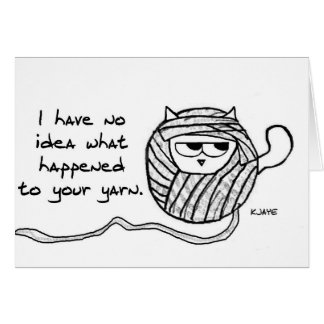 Cats Steal Yarn - Funny Cat Card for Knitters