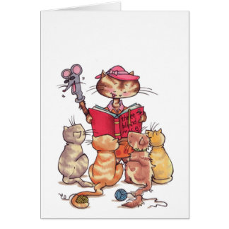 Cats story time notecard cards