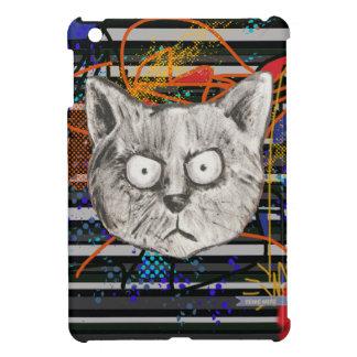 cats, stripes, crazy iPad mini cover
