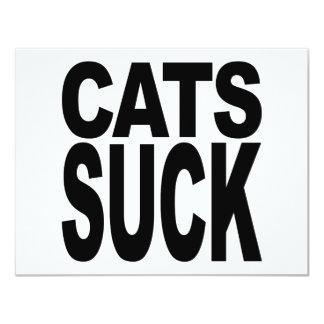 Cats Suck Card