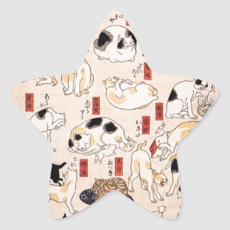 Cats suggested as the fifty three stations of the star sticker
