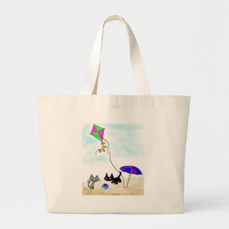 Cats Summer Fun At The Beach Bags