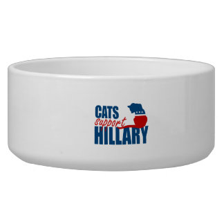CATS SUPPORT HILLARY.png Dog Bowls