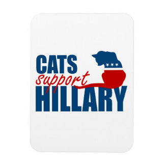 CATS SUPPORT HILLARY FLEXIBLE MAGNETS