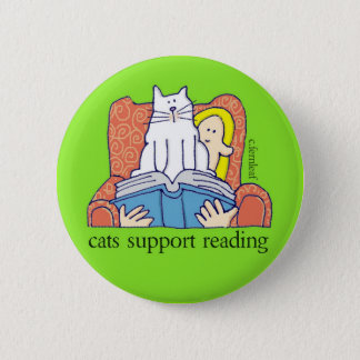 Cats Support Literacy Button