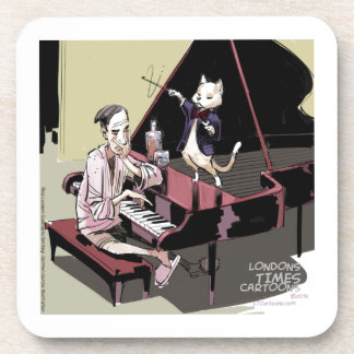 Cats That Take Over & Conduct Everything Funny Drink Coaster