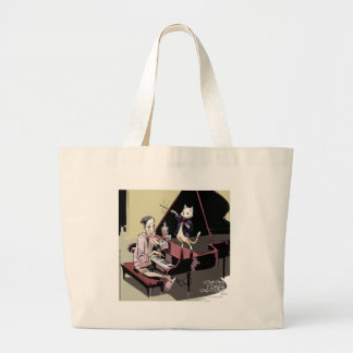 Cats That Take Over & Conduct Everything Funny Large Tote Bag