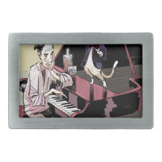 Cats That Take Over & Conduct Everything Funny Rectangular Belt Buckle