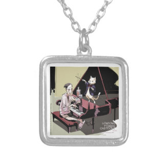 Cats That Take Over & Conduct Everything Funny Silver Plated Necklace