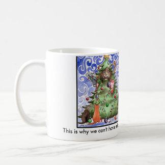Cats & their humans & a Christmas tree Coffee Mug