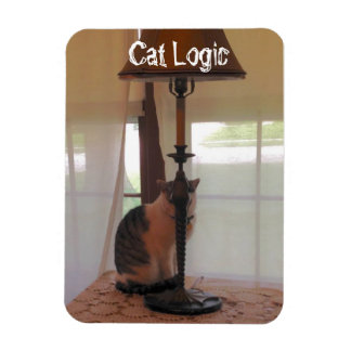 """Cats """"think"""" they are hidding! rectangular photo magnet"""