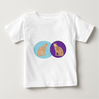 Cats, three, on varios products baby T-Shirt