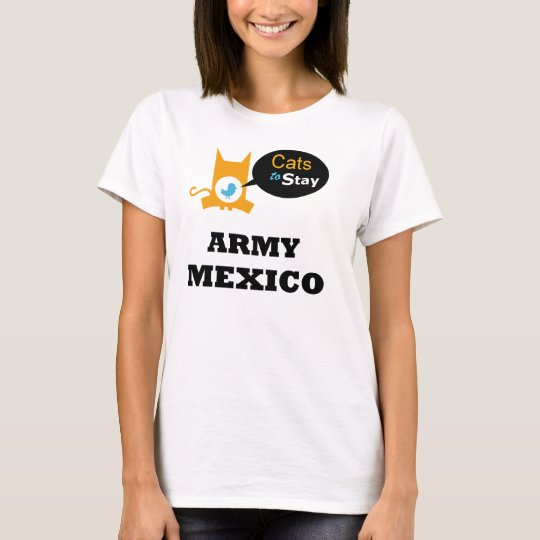 Cats to Stay Army MEXICO Cat Lovers Sector T-Shirt