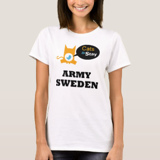 Cats to Stay Army SWEDEN Cat Lovers Sector T-Shirt